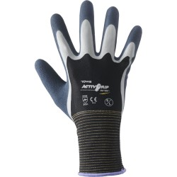 GUANTI ACTIVGRIP XA-324 NYLON NERO/LATEX COF. DA PZ. 12